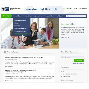 Webdesign voor IHK-Innovation Consulting Hessen