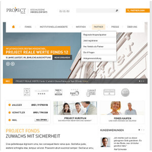 Webdesign voor EOM - Project Fonds